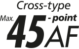 45 all cross type AF